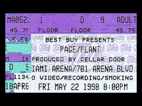 Page and Plant - Miami Arena - Master Tapes AUDIO 5/22/98