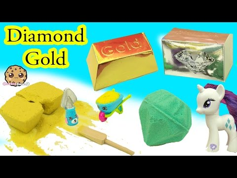 Surprise Dig It Digging For Diamond & Gold With My Little Pony Rarity - Cookie Swirl C Video