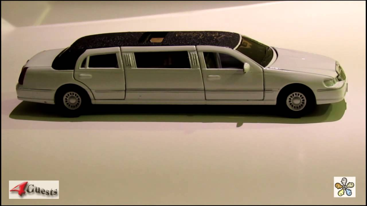 Lincoln Town Car Limousine 1999 Kinsmart 1 38 Scale Diecast Model Replica Youtube