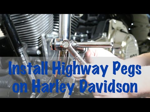 Install Highway Cruising Foot Pegs on Harley Davidson | Motorcycle Podcast