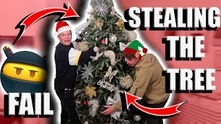 STEALING MY PARENTS CHRISTMAS TREE PRANK *GONE WRONG!*