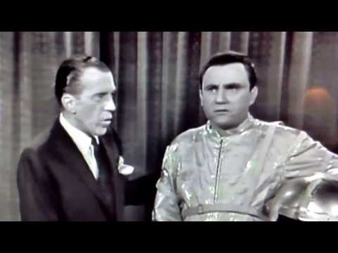 Ed Sullivan / First man on the moon... Funny show, black and white, joke