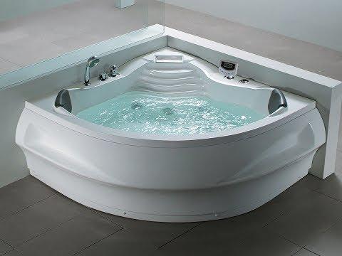 whirlpool badewanne st tropez eckwanne mit 14 massage d sen heizung ozon spa g nstig youtube