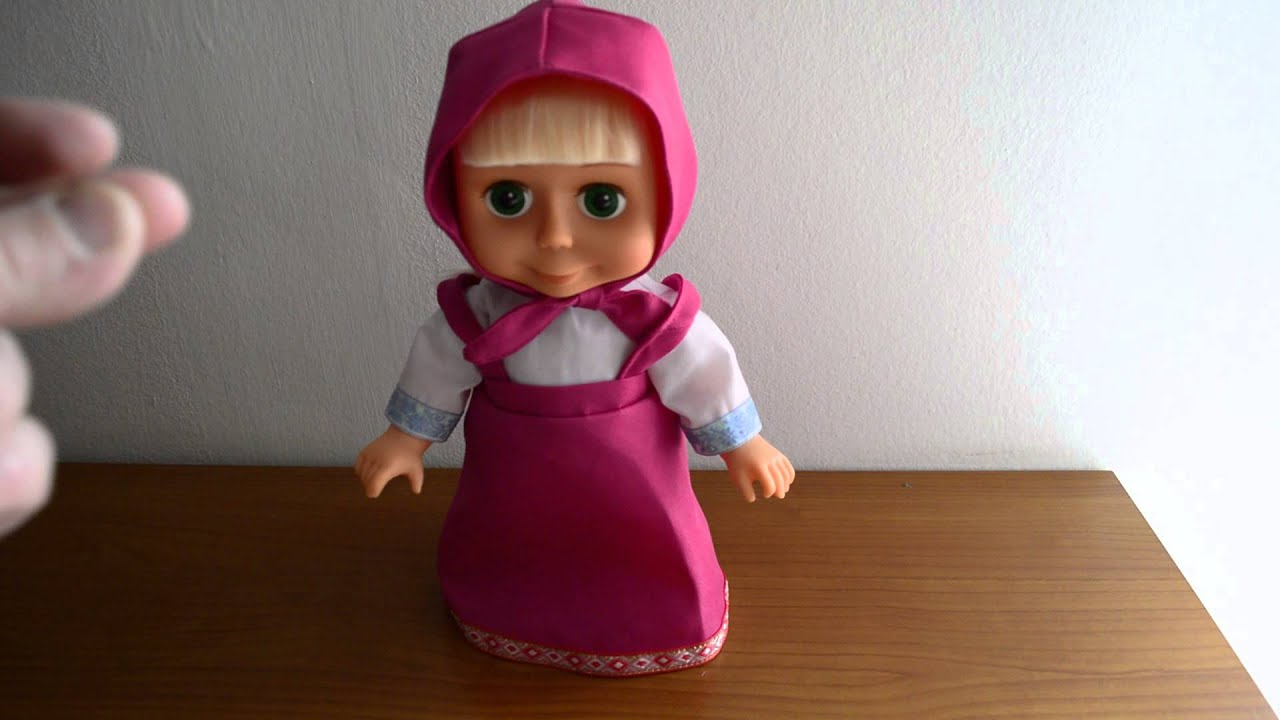 Très bambola interattiva di Masha e l'orso кукла Маша реагирует на  VQ44