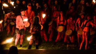 beltane fire festival edinburgh 30th april 2013 dont watch if offended by topless drummers