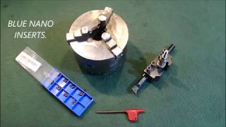 How To Bore Lathe Hard Jaws With A  Special Carbide Insert.