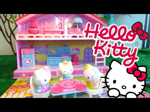 Peppa Pig Blind Bag Open - Hello Kitty (Sanrio) House Unboxing and Review