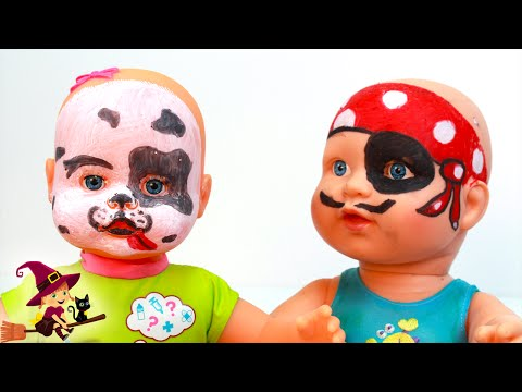 Bebe Pirata y su Amigo Pintado de Perrito Dalmata