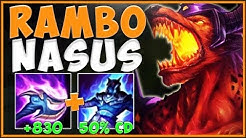 NEVER LET A NASUS STACK THIS MUCH! RAMBO NASUS IS 100% OP! NASUS TOP GAMEPLAY! League of Legends