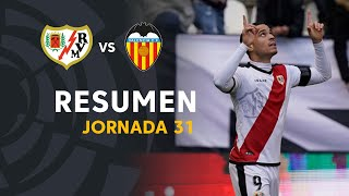 Resumen de Rayo Vallecano vs Valencia CF (2-0)