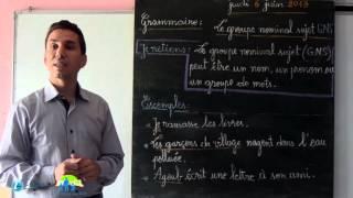 درس اللغة الفرنسية مستوى السادس إبتدائي