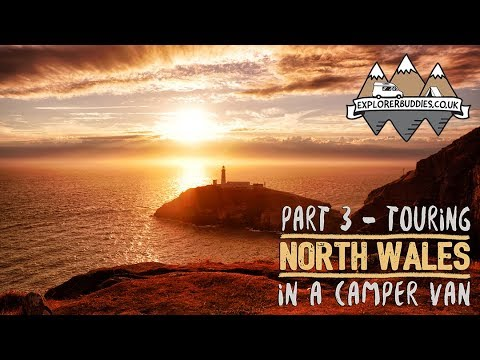 Touring NORTH WALES in a CAMPER VAN Part 3 with Florence and the Morgans