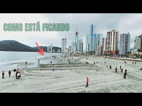 Conhecendo a Praia nova de Balneário Camboriú com mais de 70 Metros de Largura