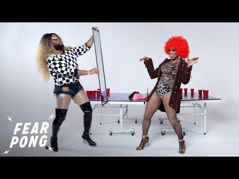 Strangers Get Their Makeup Done By Drag Queens | Fear Pong | Cut thumbnail