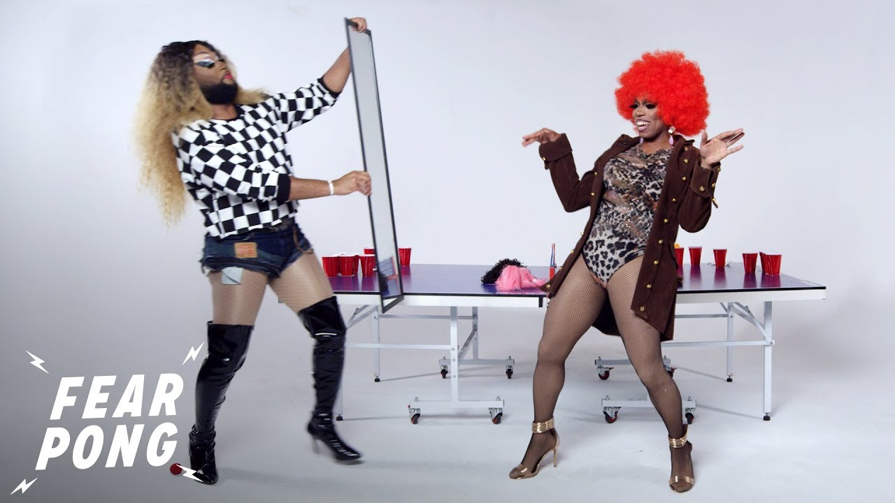 Drag Queens Play Fear Pong (Dion Dior Black & Amora Dior Black) | Fear Pong | Cut