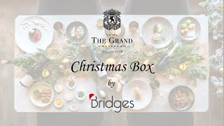 The Grand Christmas Box by Bridges 5-course dinner instructions video