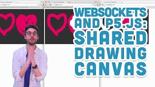 12.4: Shared Drawing Canvas - WebSockets and p5.js Tutorial by The Coding Train