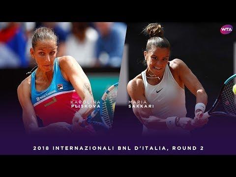 Karolina Pliskova vs. Maria Sakkari | 2018 Internazionali BNL d'Italia Second Round | WTA Highlights