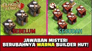 TERJAWAB! Misteri BUILDER HUT Berubah WARNA MERAH!! - CoC Indonesia