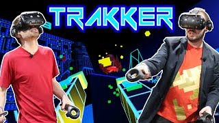 Retro arcade style game for Virtual Reality  - Trakker (HTC Vive)