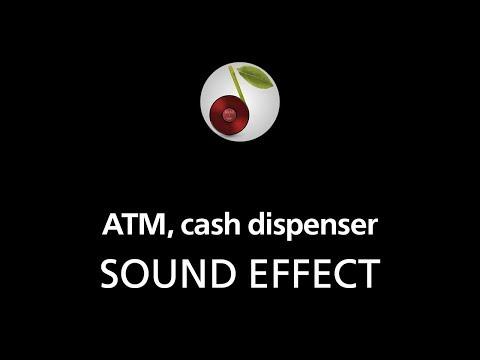 ATM, cash dispenser, sound effect