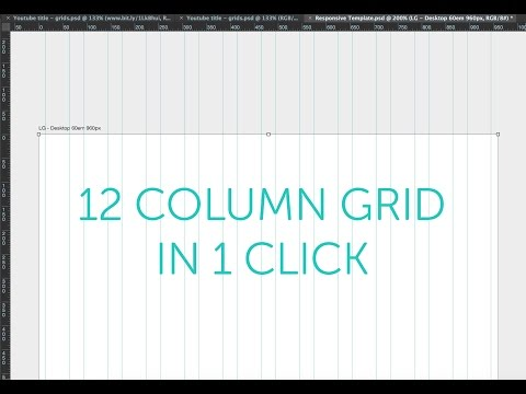 How To Make A Bootstrap Grid Psd Column Guide In Photoshop Cc 2015 Tutorial Part 20 48 Youtube