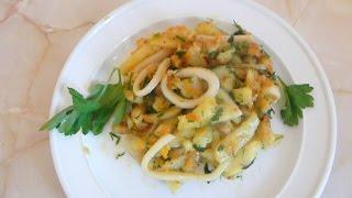 Картофель с кальмарами