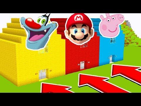 NE CHOISISSEZ PAS LA MAUVAISE MAISON ! Mario, Oggy et les Cafards, Peppa Pig ! Minecraft troll