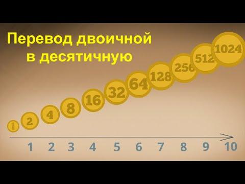 Вопрос: Как переводить из двоичной системы в десятичную?
