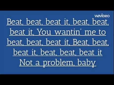 Sean Kingston ft. Chris Brown, Wiz Khalifa - Beat It (Lyrics Video)