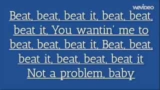 Sean Kingston ft. Chris Brown, Wiz Khalifa - Beat It (Lyrics Video)
