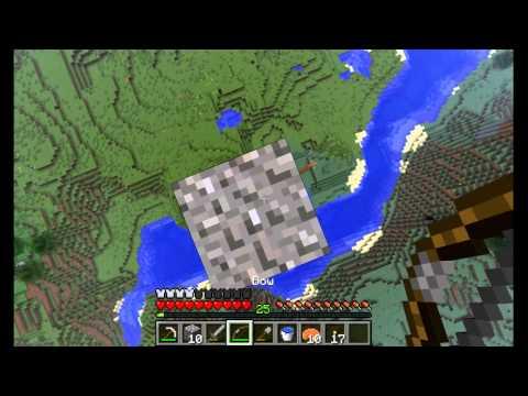 Minecraft GTTE #10: Grinding Gravel For Flint To Make Arrows
