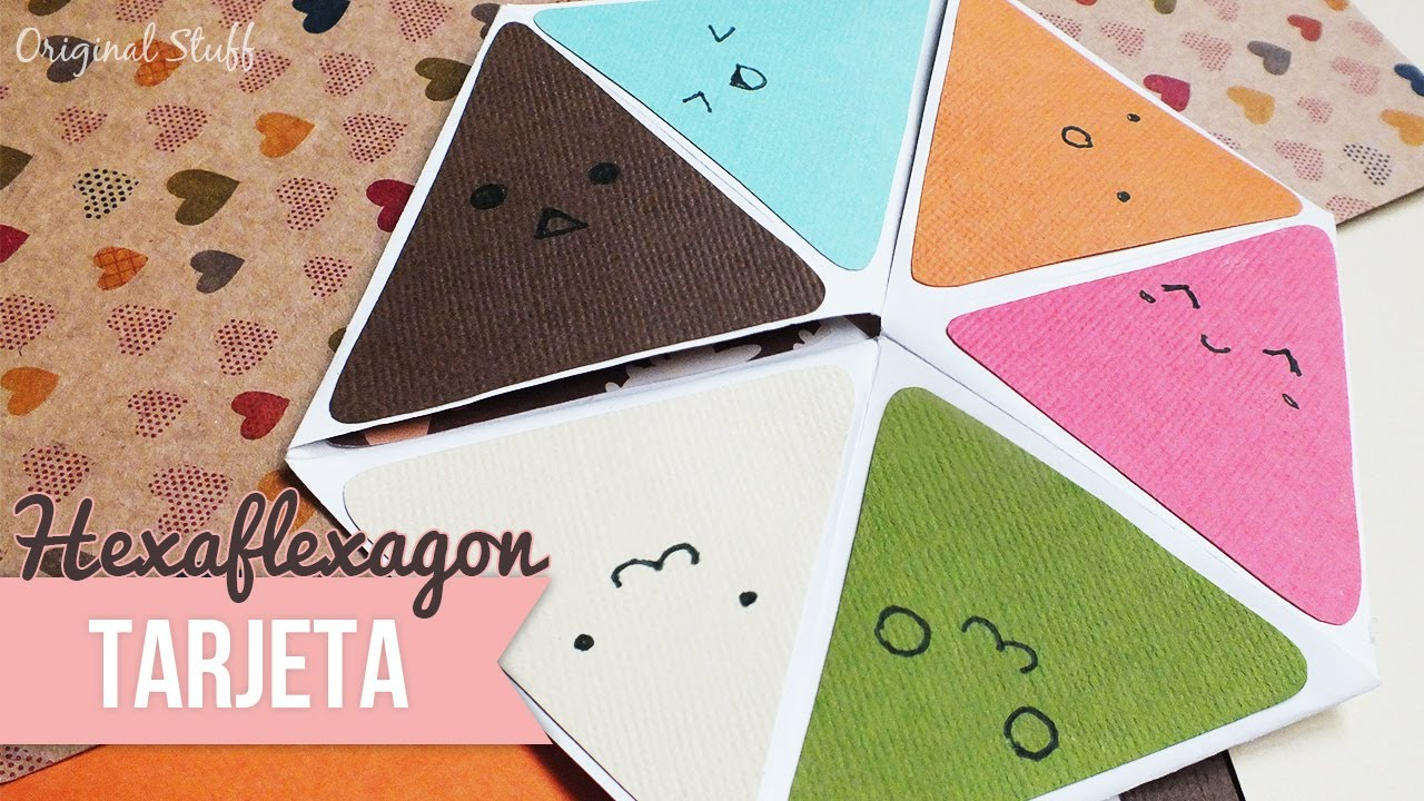 Carta Hexaflexagon Scrapbook Original Stuff Doovi