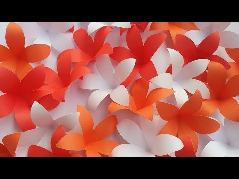 DIY: Door/Window Curtain/Porda! How to Make Beautiful Paper Flower Hanging for Home/Room Decoration!