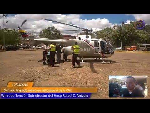 Traslado de paciente en helicóptero desde Valle de la Pascua Hasta Caracas.