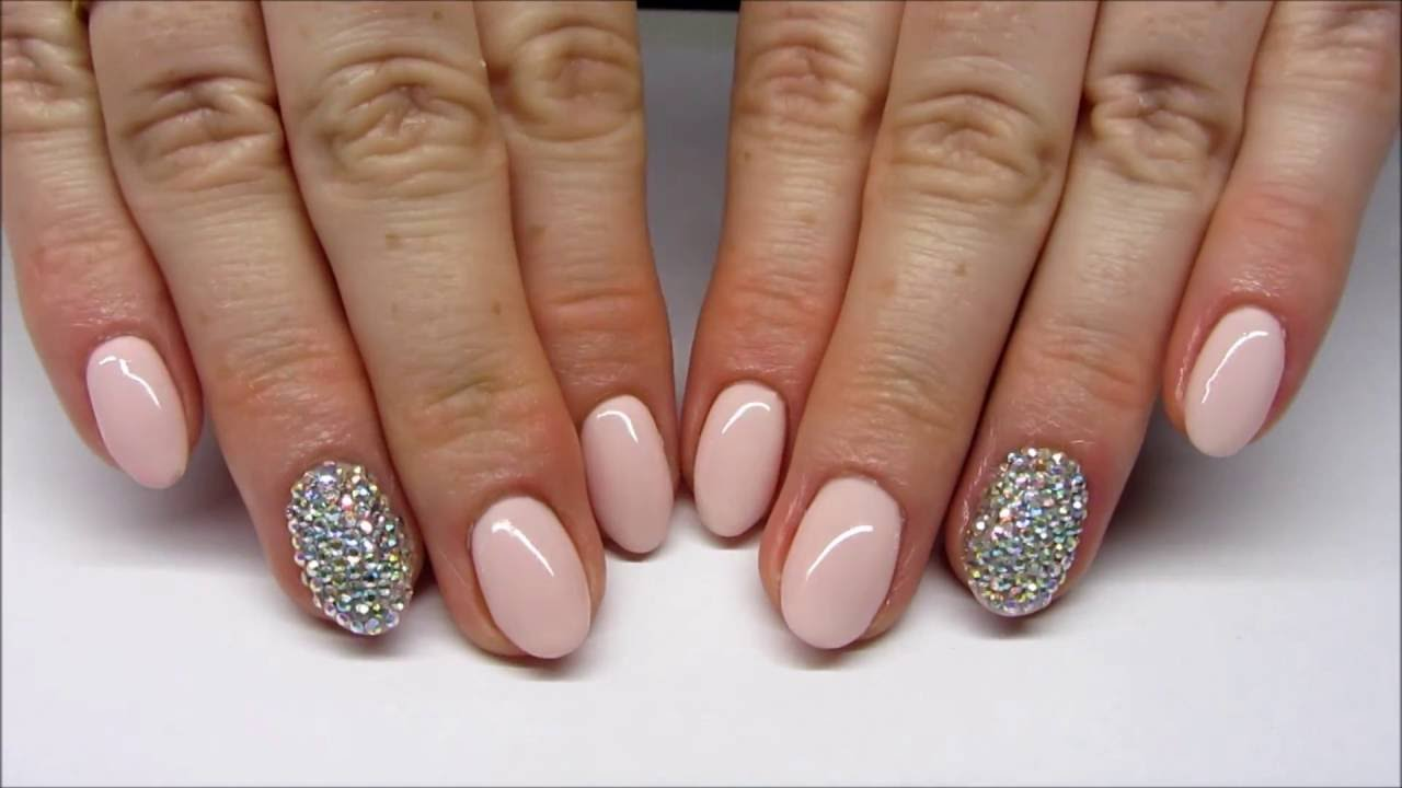 The Easiest Way To Put Diamonds Crystal On Nails Bling Bling