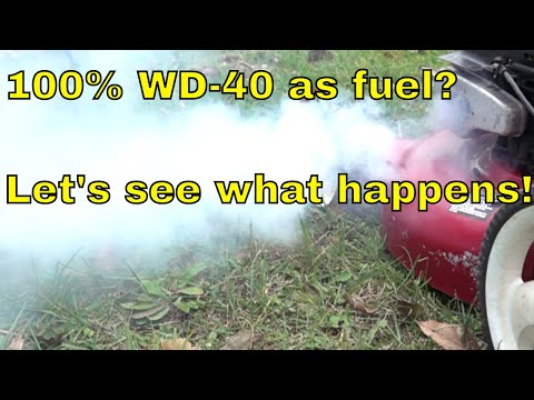 Will a Gas Engine Run on WD-40?  Let's find out!
