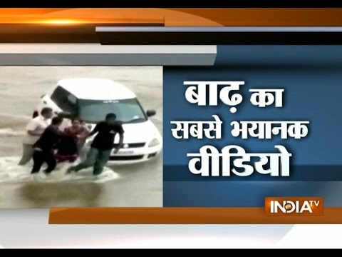 Gujarat Family Try to Save Life in Flash Flood in Morbi - India TV