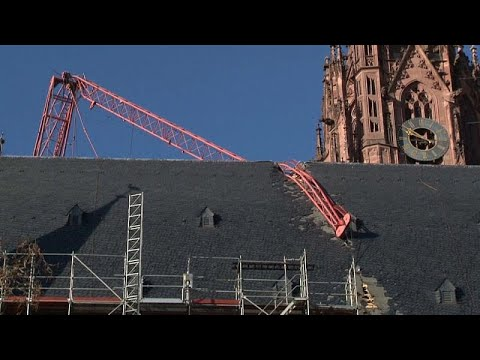 شاهد: كاتدرائية فرانكفورت في -عين العاصفة- -سيارا-  - 09:59-2020 / 2 / 11