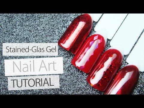 4 Easy Nail Art Designs Tutorial With Stained Glass Gel - Lesson Part 4