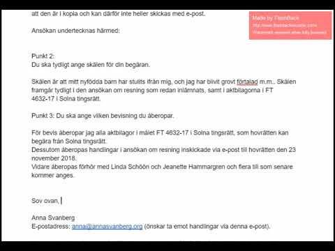 Svar på föreläggande, Svea hovrätt, 2019-01-18 Mp3