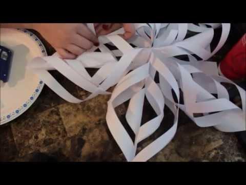 Diy How To Make Christmas Paper Snowflake Tutorial