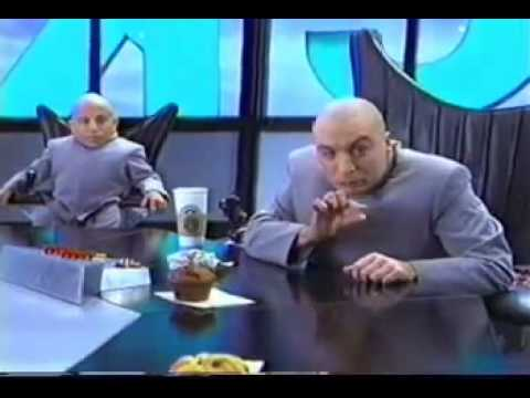austin powers dr evil tells scott to zip it youtube