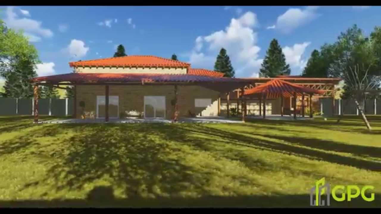 Projeto casa de campo ibat sp gpg arquitetura youtube - Casas de campo restauradas ...