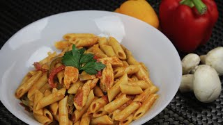 Penne with Chicken and Mushrooms -  Episode 70 - Amina is cooking