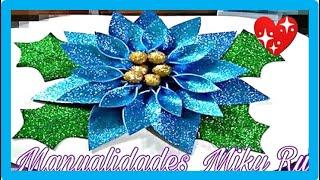 Como Hacer Flor Noche Buena De Fomie   Miky Ru