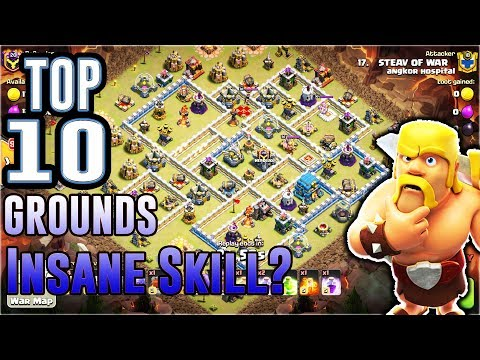 TOP10!! INSANE GROUND ATTACK SKILL 3-STAR TH12 IN CLASH OF CLANS
