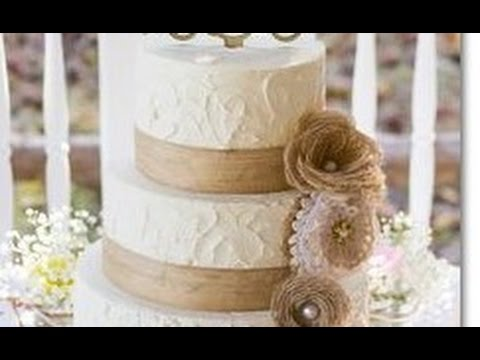 burlap-wedding-cake