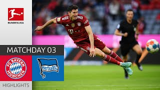 FC Bayern München Hertha Berlin 5 0 Highlights Matchday 3 Bundesliga 2021 22