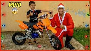 Surpresa ! Ganhando Uma Mini Moto de Natal | KTM 50 Sx Guilherme 5 Anos